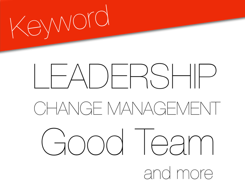 Keyword LEADERSHIP CHANGE MANAGEMENT Good Team ...