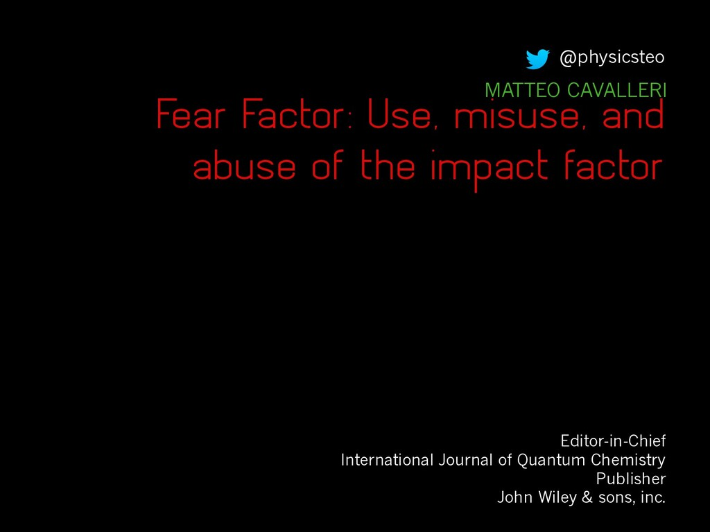 Fear Factor: Use, misuse, and abuse of the impa...