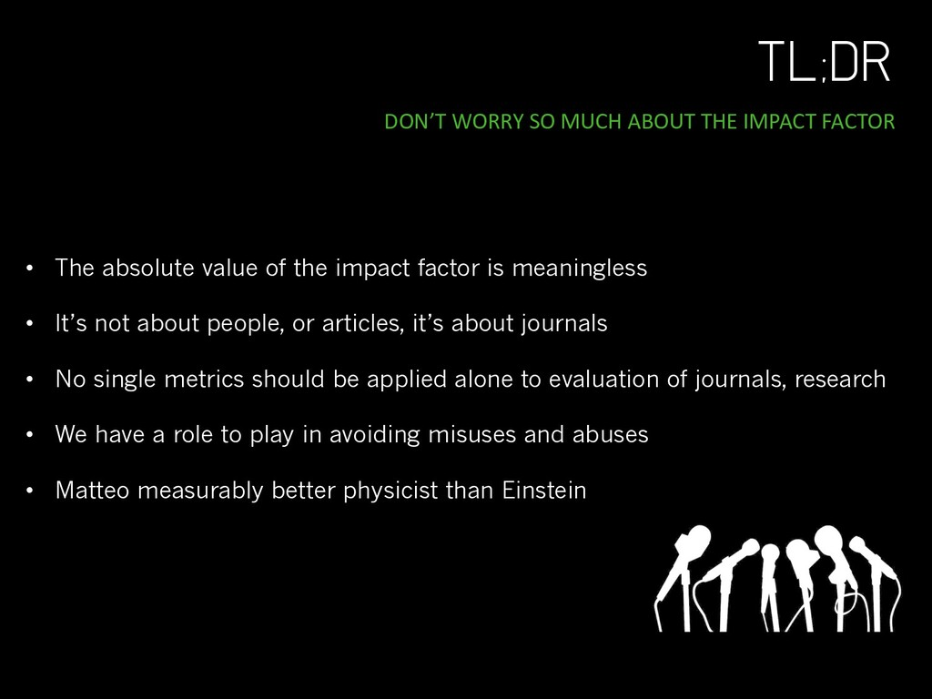 TL;DR DON'T WORRY SO MUCH ABOUT THE IMPACT FACT...