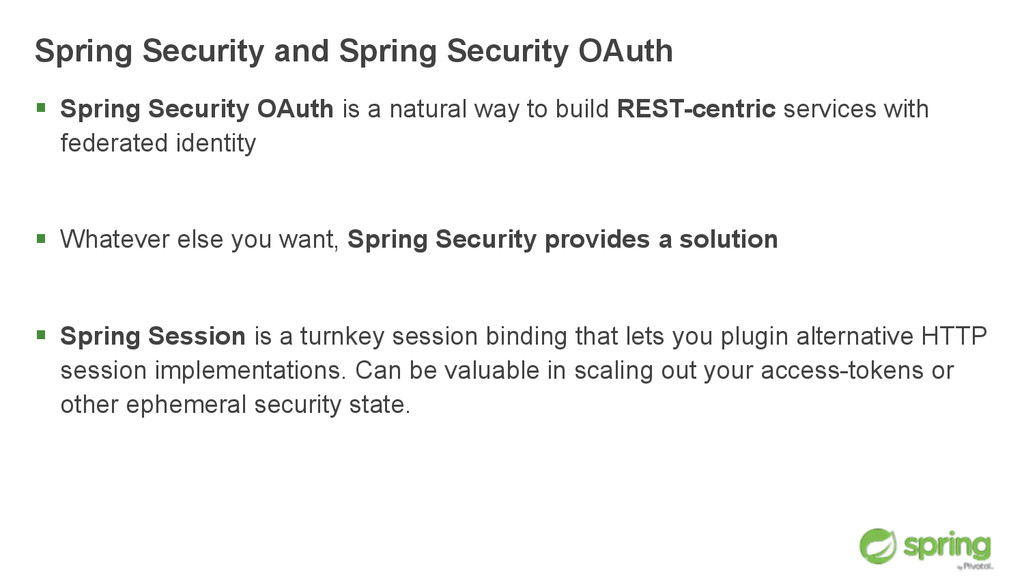 Spring Security and Spring Security OAuth § Sp...