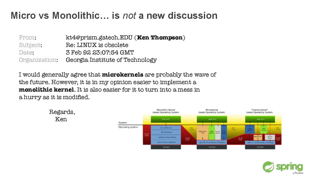 Micro vs Monolithic… is not a new discussion Fr...