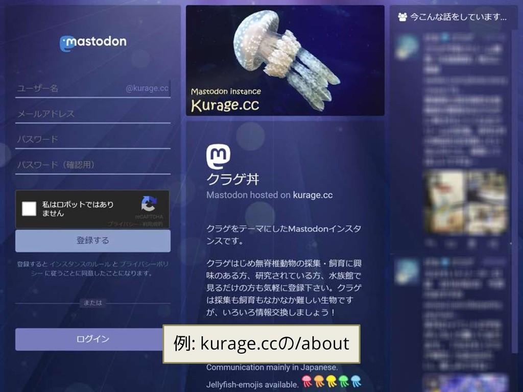 例: kurage.ccの/about