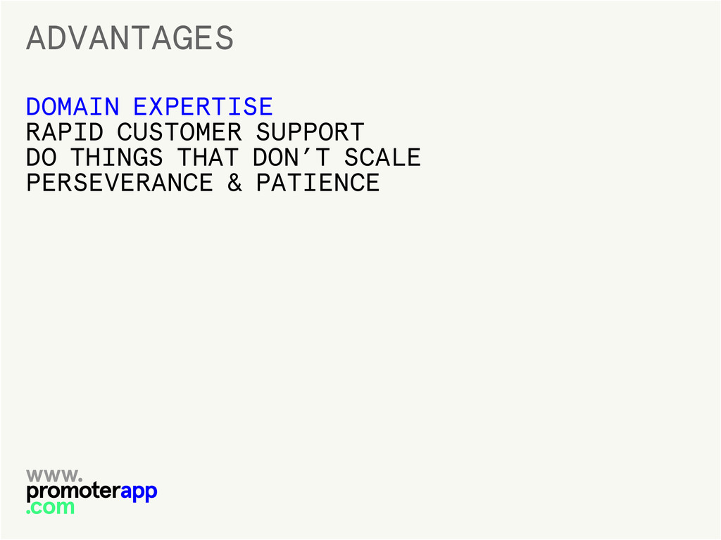 ADVANTAGES DOMAIN EXPERTISE RAPID CUSTOMER SUPP...