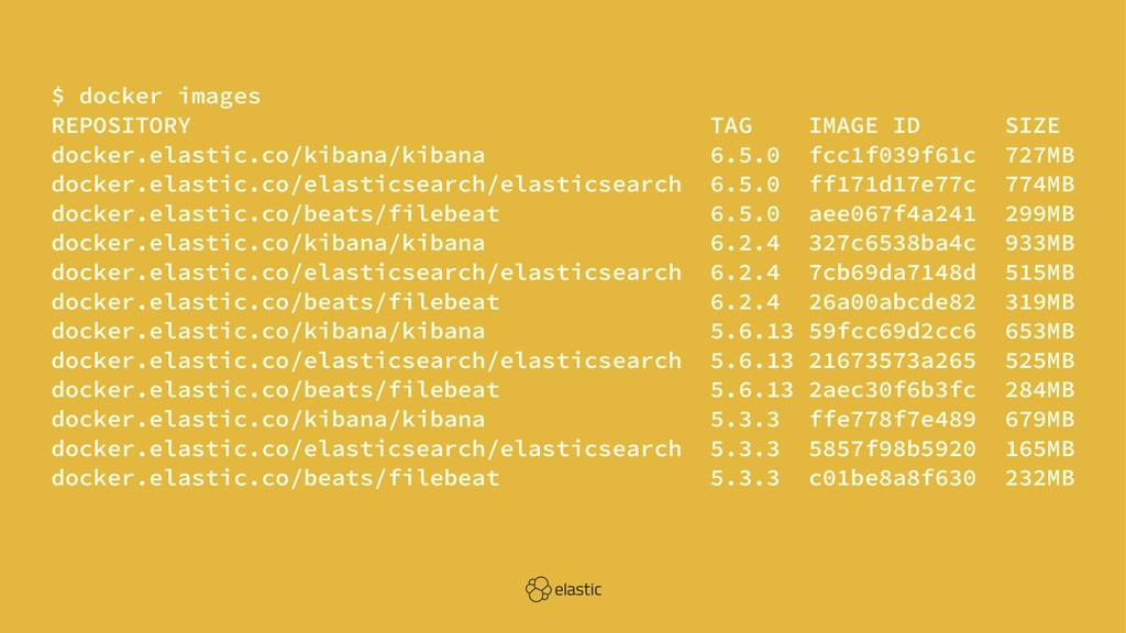 $ docker images REPOSITORY TAG IMAGE ID SIZE do...