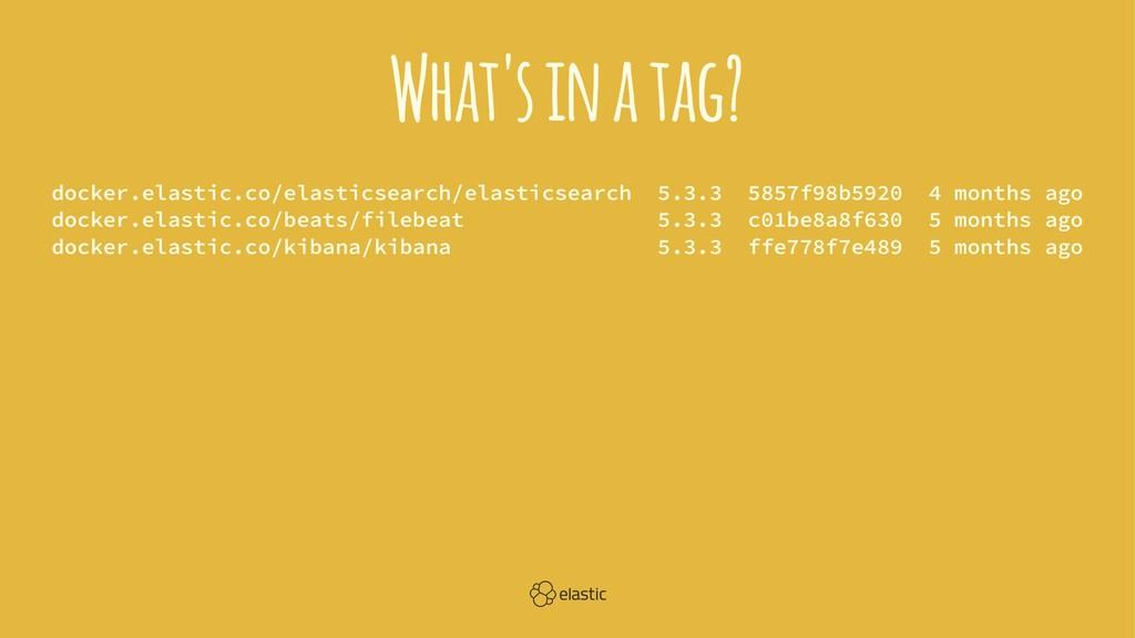 What's in a tag? docker.elastic.co/elasticsearc...