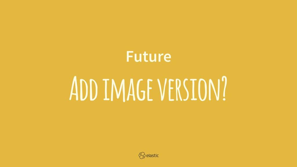 Future Add image version?