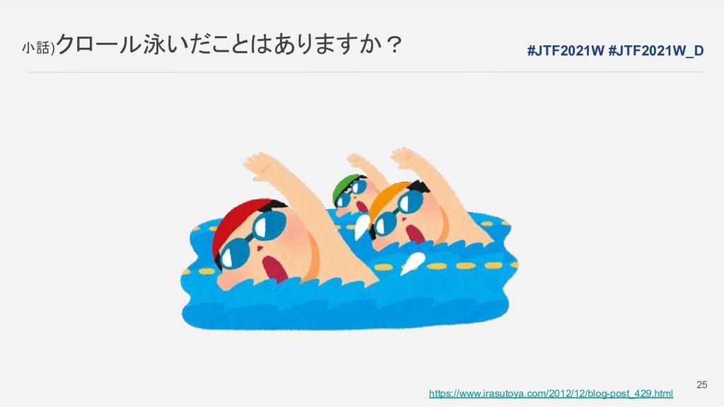 小話)クロール泳いだことはありますか? https://www.irasutoya.com/2...