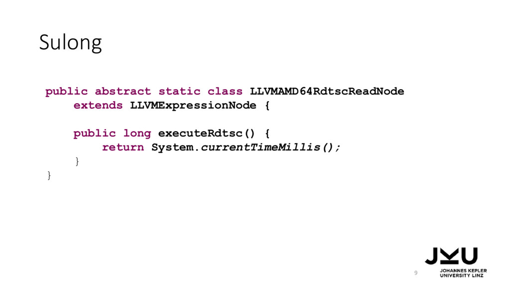 Sulong 9 public abstract static class LLVMAMD64...