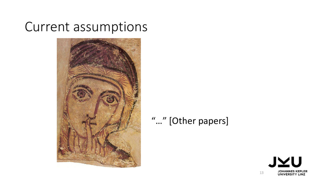 "Current assumptions 13 ""…"" [Other papers]"