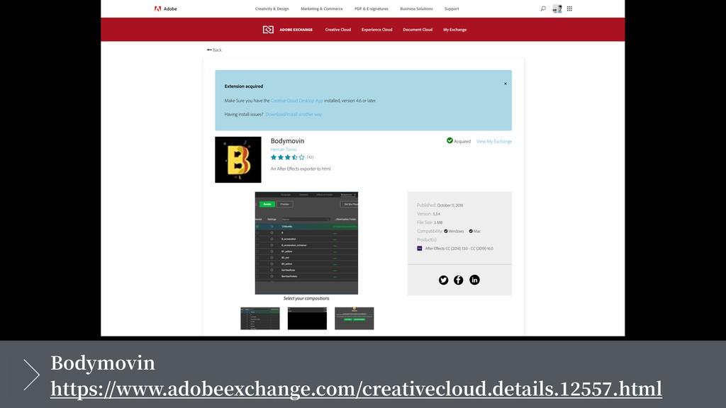 Bodymovin https://www.adobeexchange.com/creativ...
