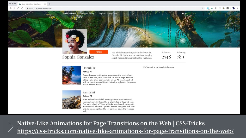 Native-Like Animations for Page Transitions on ...