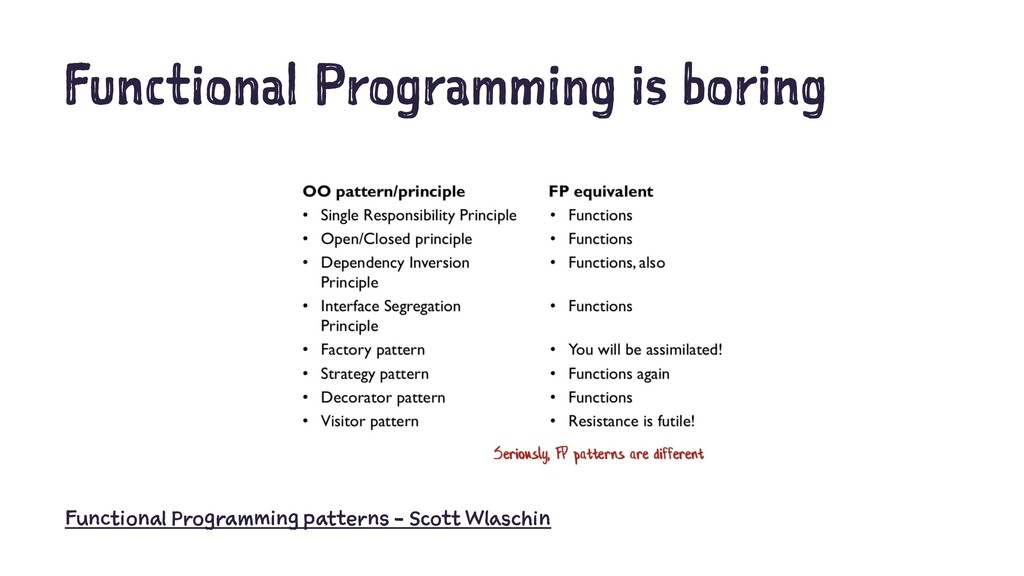 Functional Programming is boring Functional Pro...