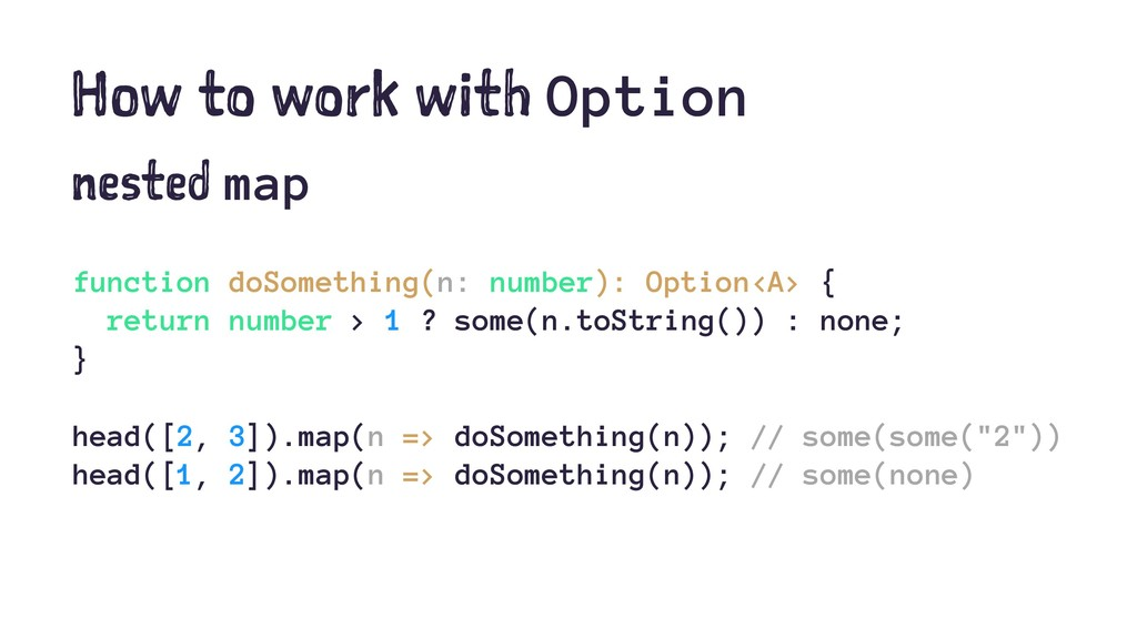 How to work with Option nested map function doS...