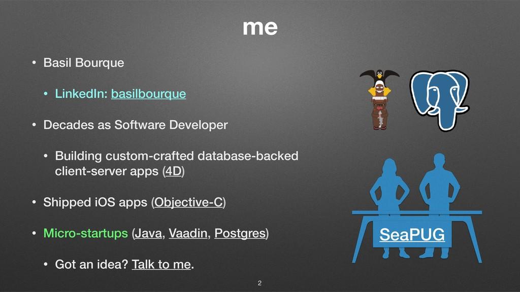 me • Basil Bourque • LinkedIn: basilbourque • D...