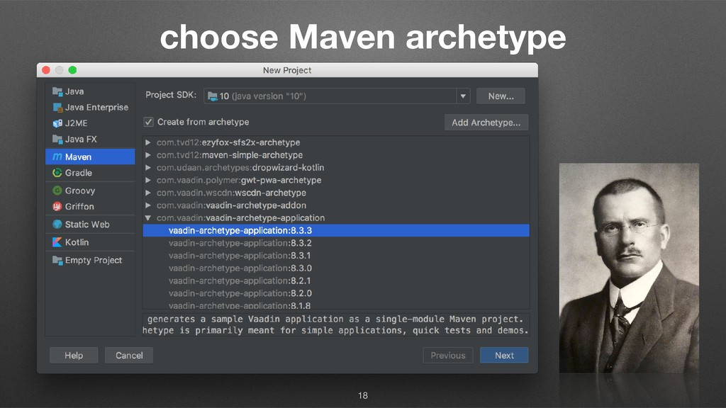 choose Maven archetype 18