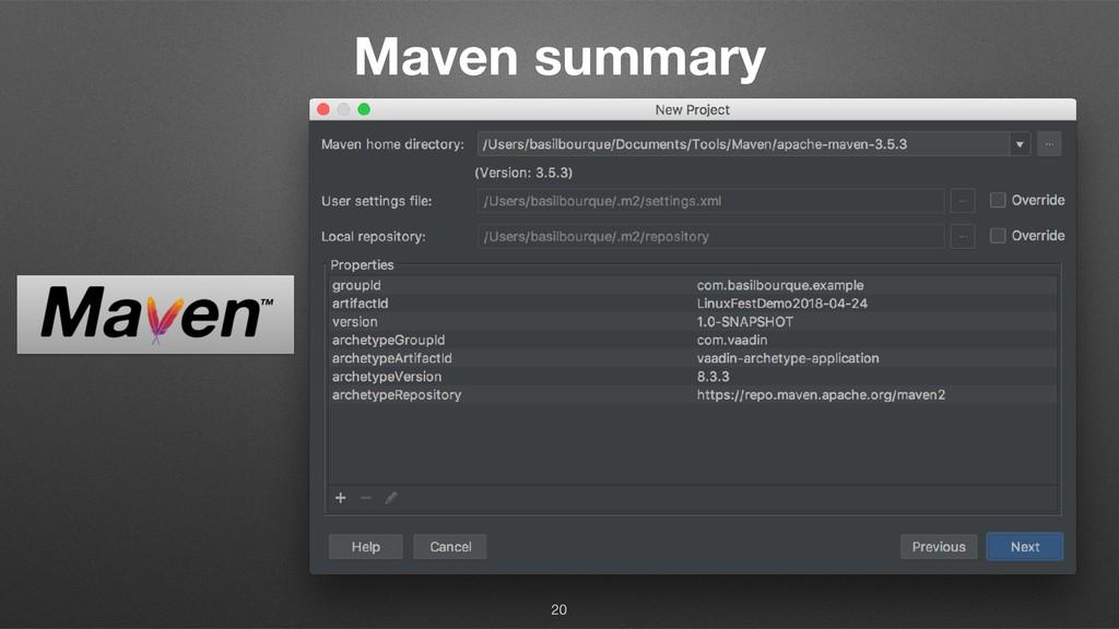 Maven summary 20