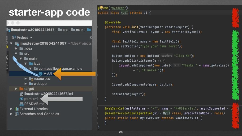 starter-app code 28