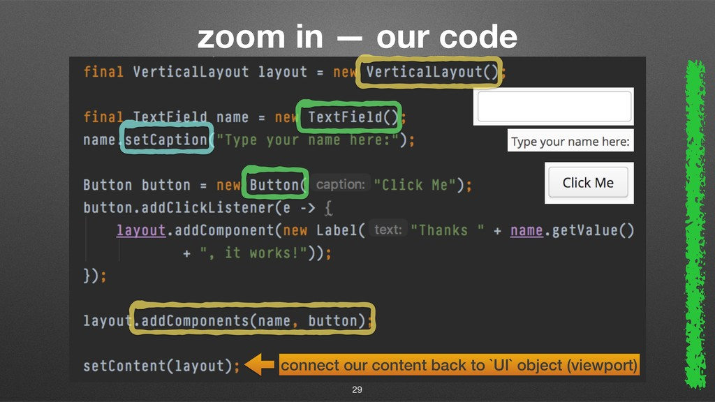 zoom in — our code 29 connect our content back ...