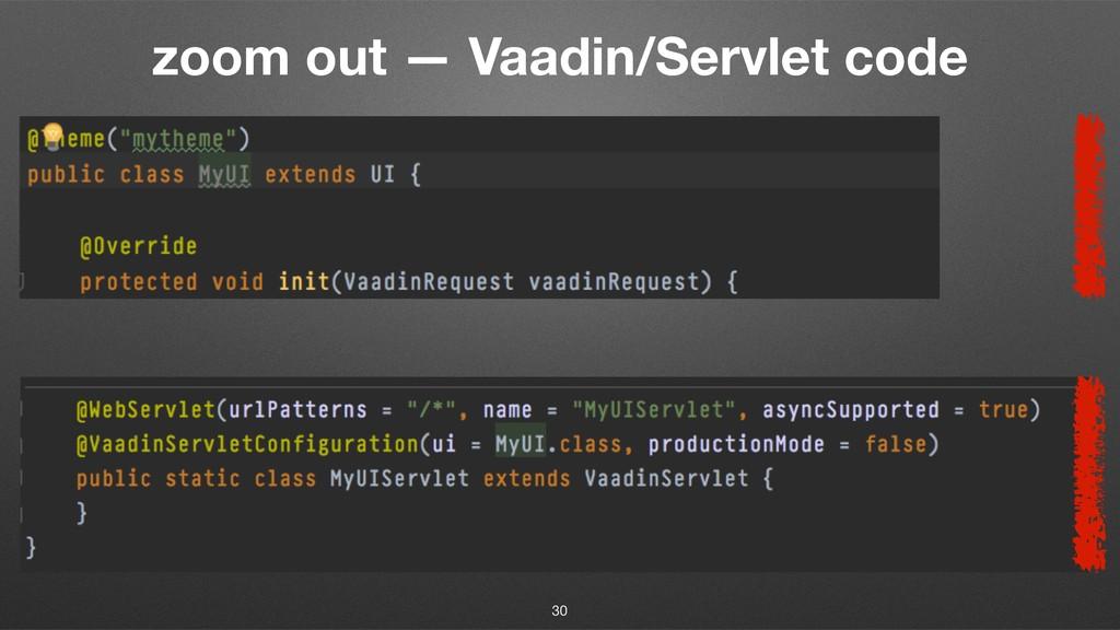 zoom out — Vaadin/Servlet code 30