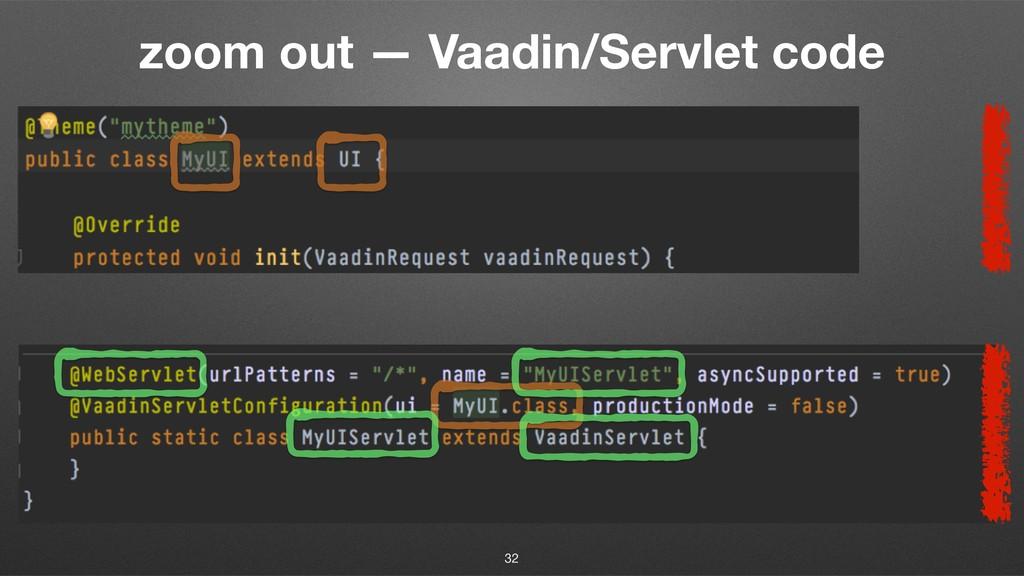 zoom out — Vaadin/Servlet code 32
