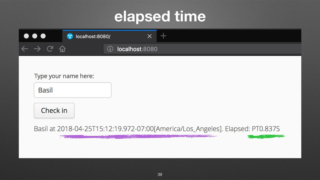 elapsed time 39