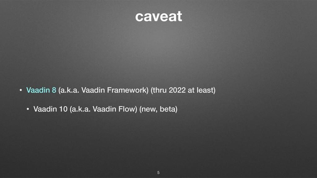 caveat • Vaadin 8 (a.k.a. Vaadin Framework) (th...
