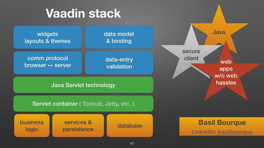 Vaadin stack 47 widgets layouts & themes data m...