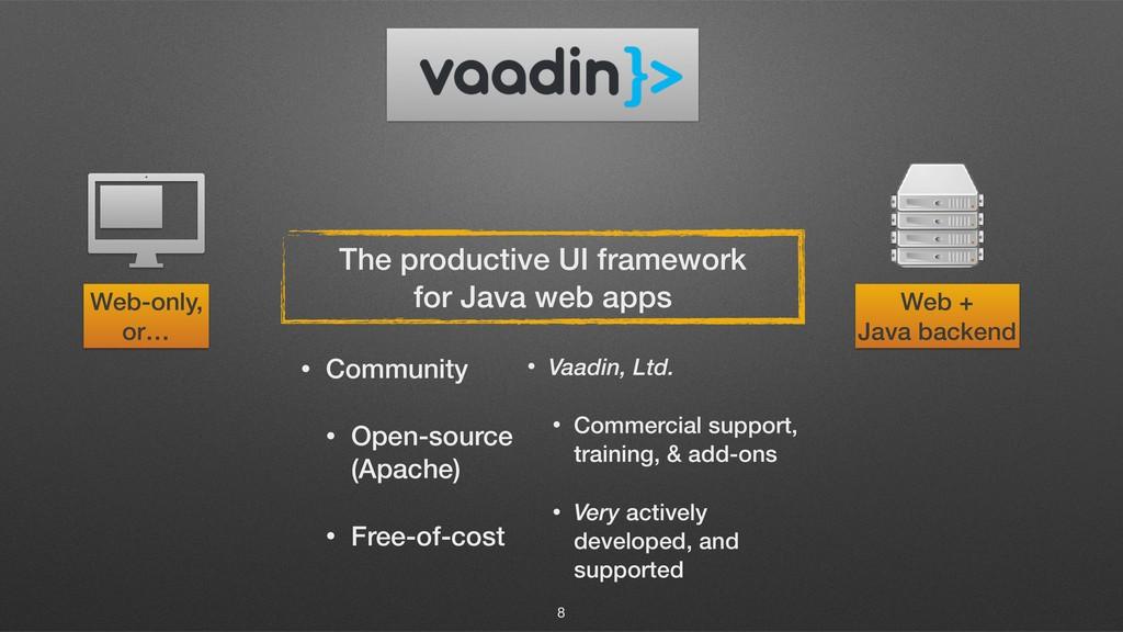 8 The productive UI framework for Java web apps...