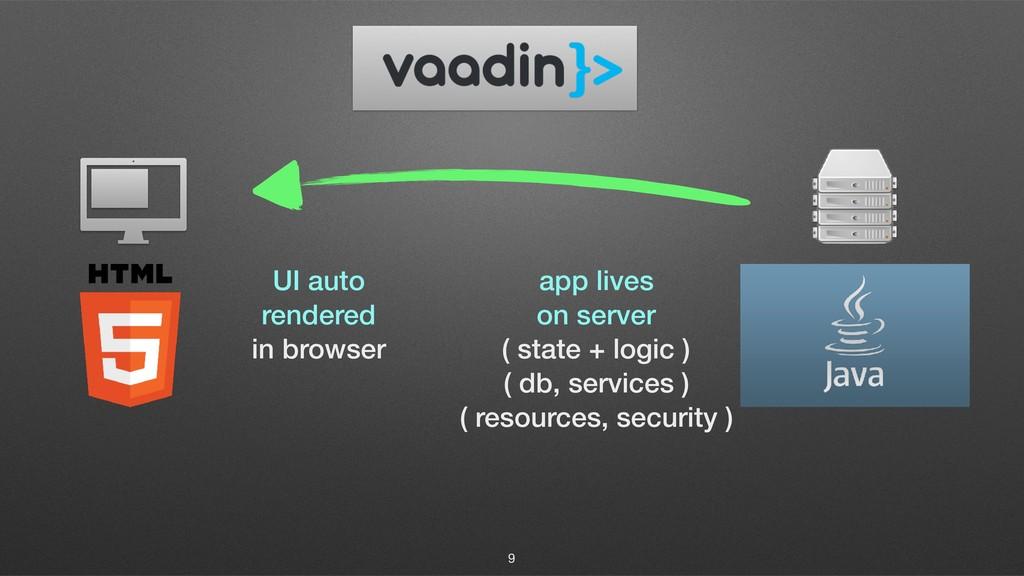 9 app lives on server ( state + logic ) ( db, s...