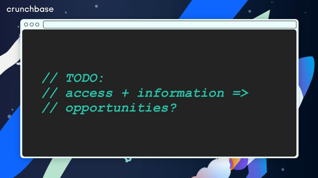 // TODO: // access + information => // opportun...