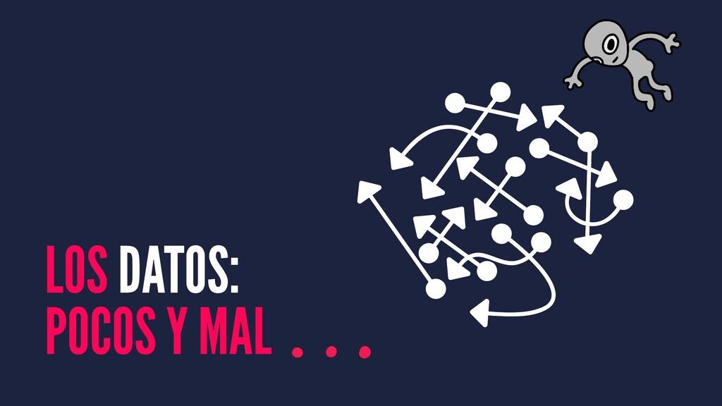 LOS DATOS: POCOS Y MAL