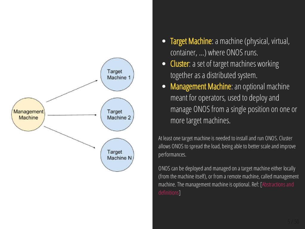 5 / 50 Target Machine: a machine (physical, vir...