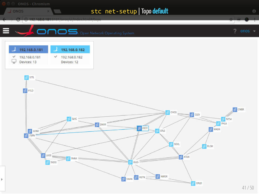 stc net-setup | Topo default 41 / 50