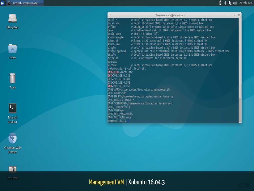 Management VM | Xubuntu 16.04.3 10 / 50