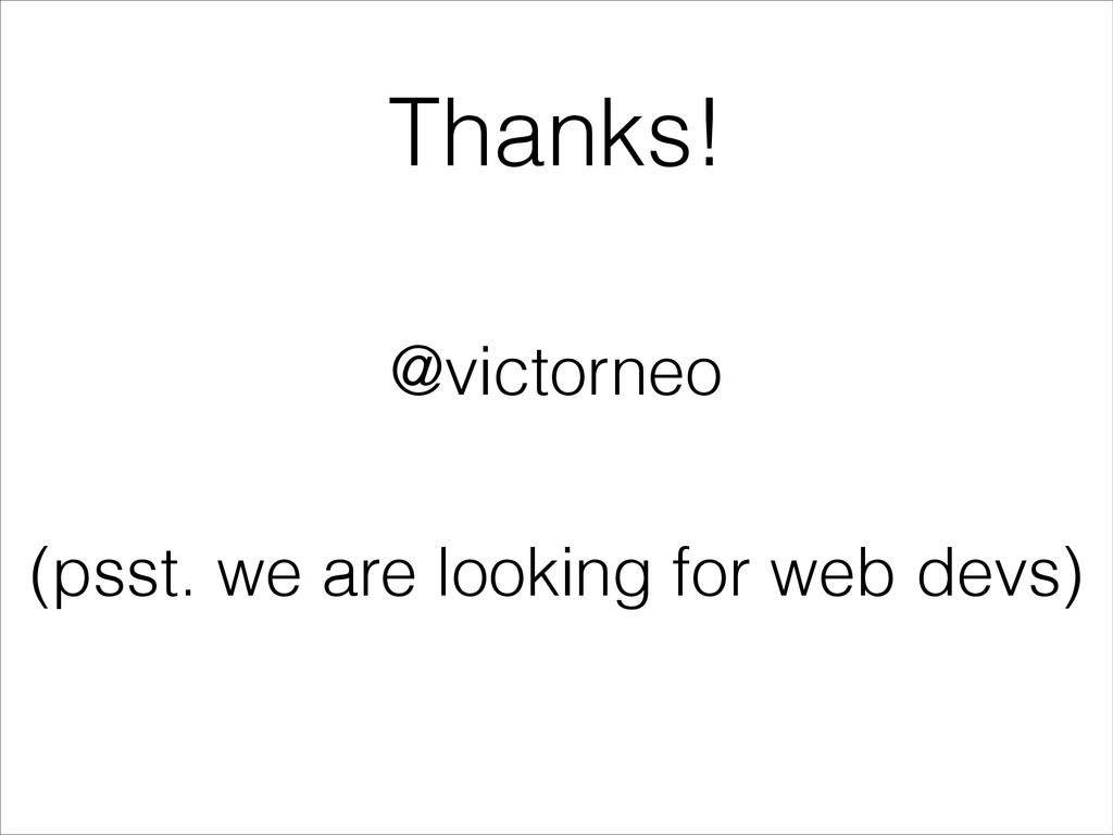 Thanks! @victorneo (psst. we are looking for we...