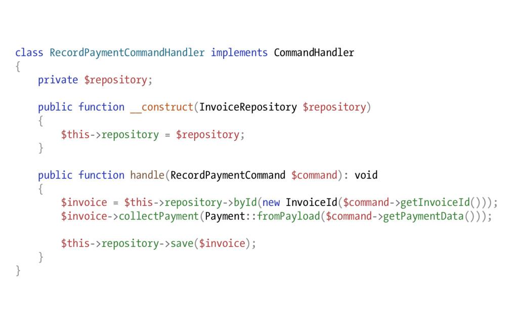 class RecordPaymentCommandHandler implements Co...