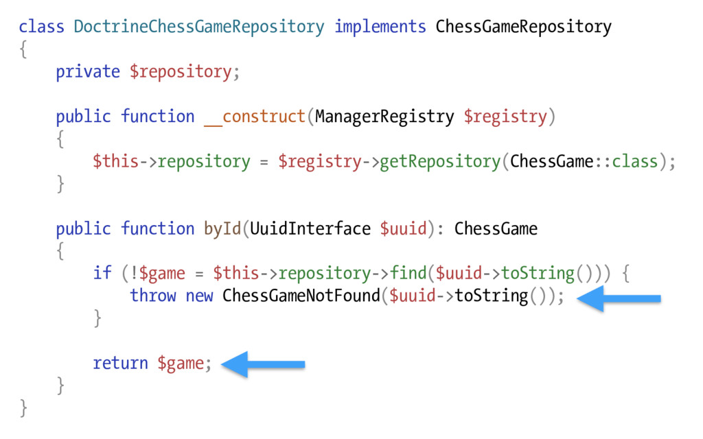 class DoctrineChessGameRepository implements Ch...