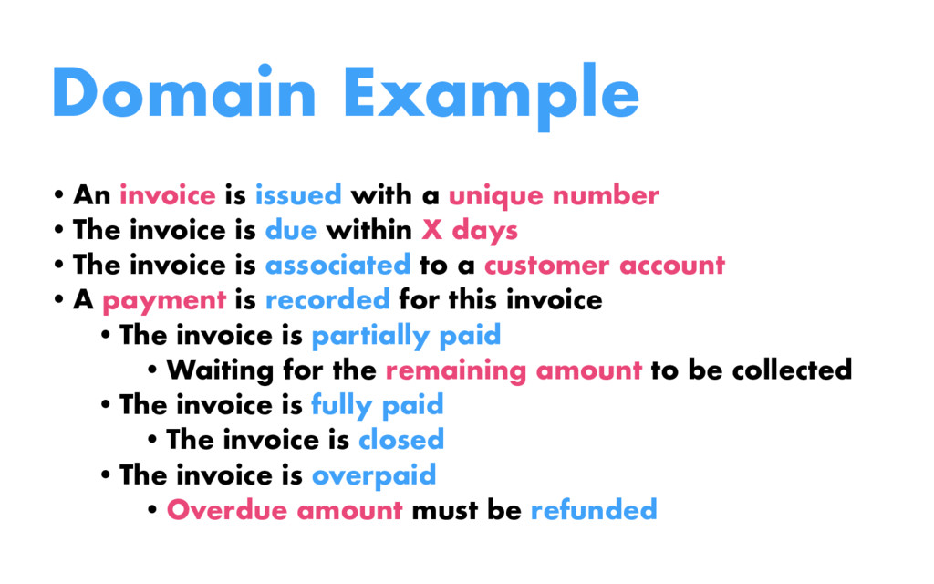 Domain Example •An invoice is issued with a uni...