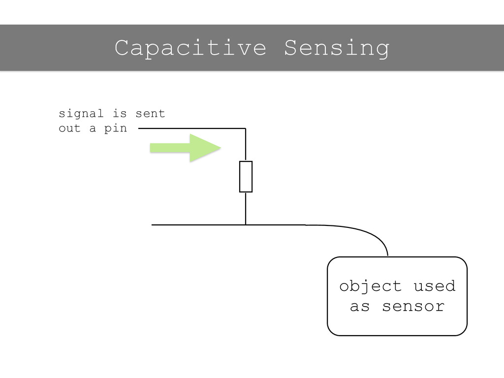 signal is sent out a pin object used as sensor ...