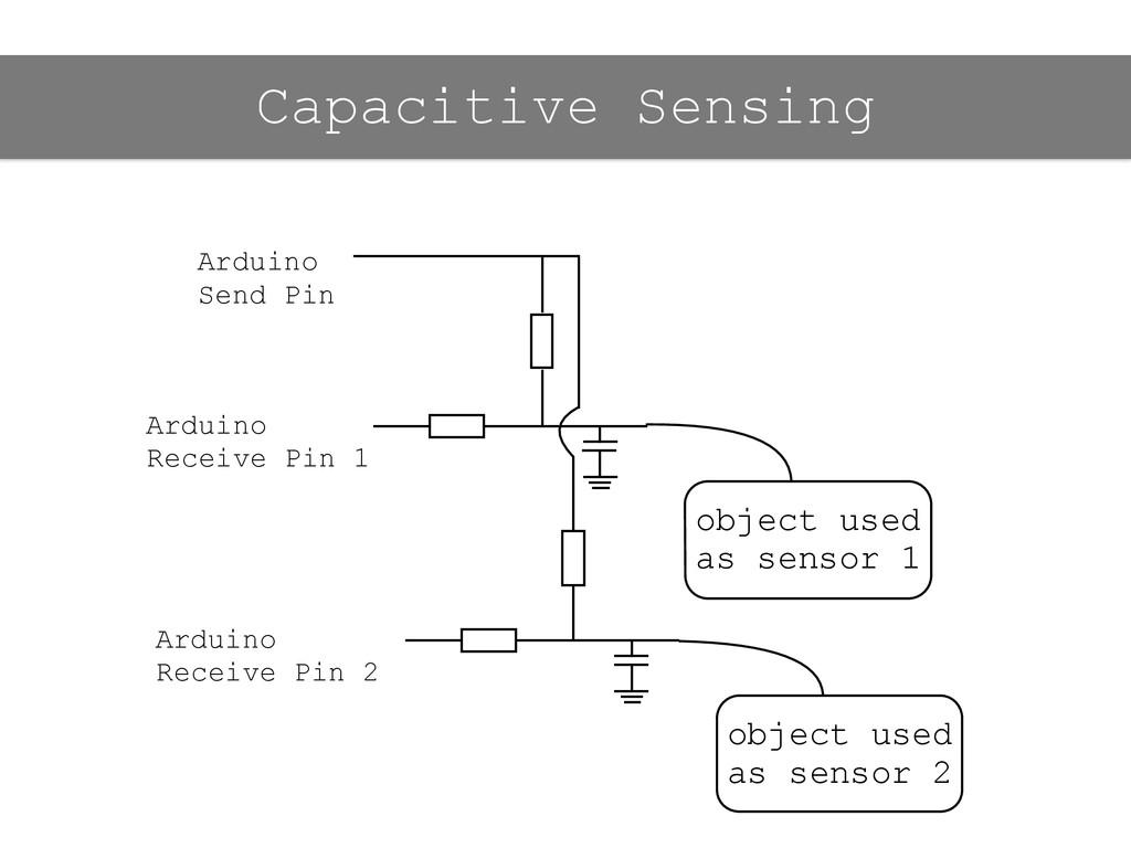 Capacitive Sensing object used as sensor 1 Ardu...