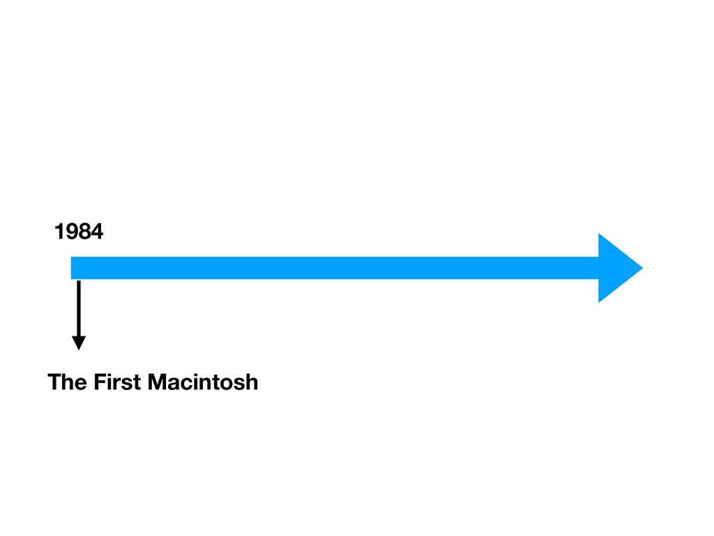 1984 The First Macintosh