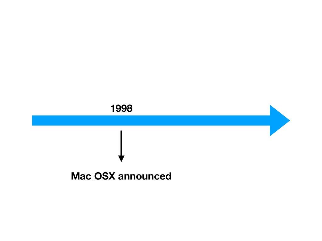 1998 Mac OSX announced