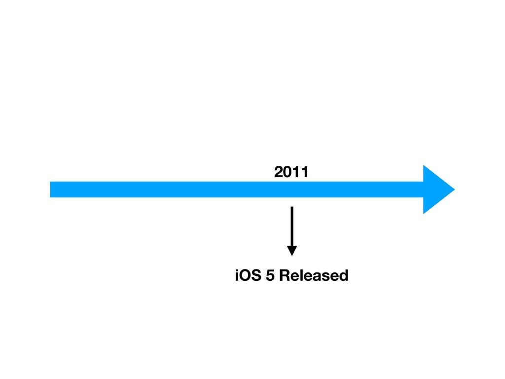 2011 iOS 5 Released