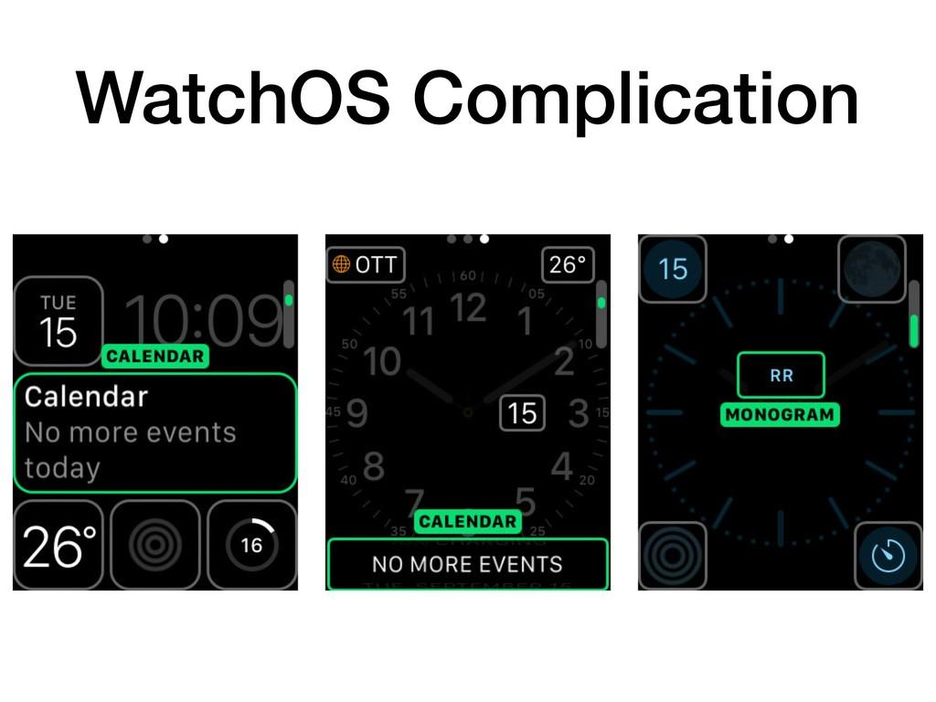 WatchOS Complication