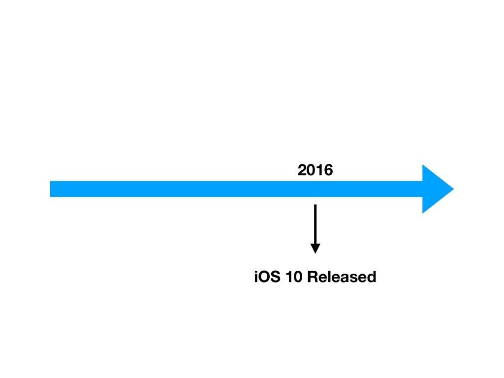 2016 iOS 10 Released