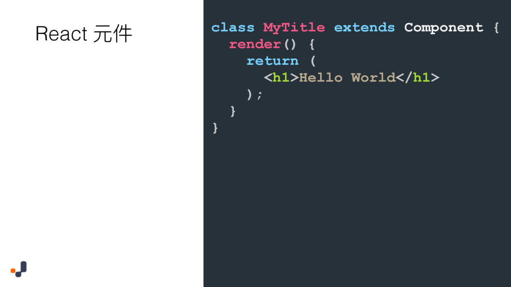 class MyTitle extends Component { render() { re...