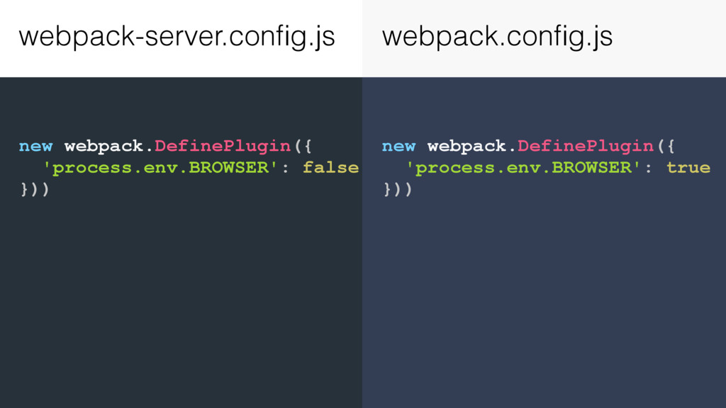 new webpack.DefinePlugin({ 'process.env.BROWSER...