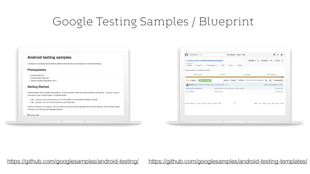 Google Testing Samples / Blueprint https://gith...