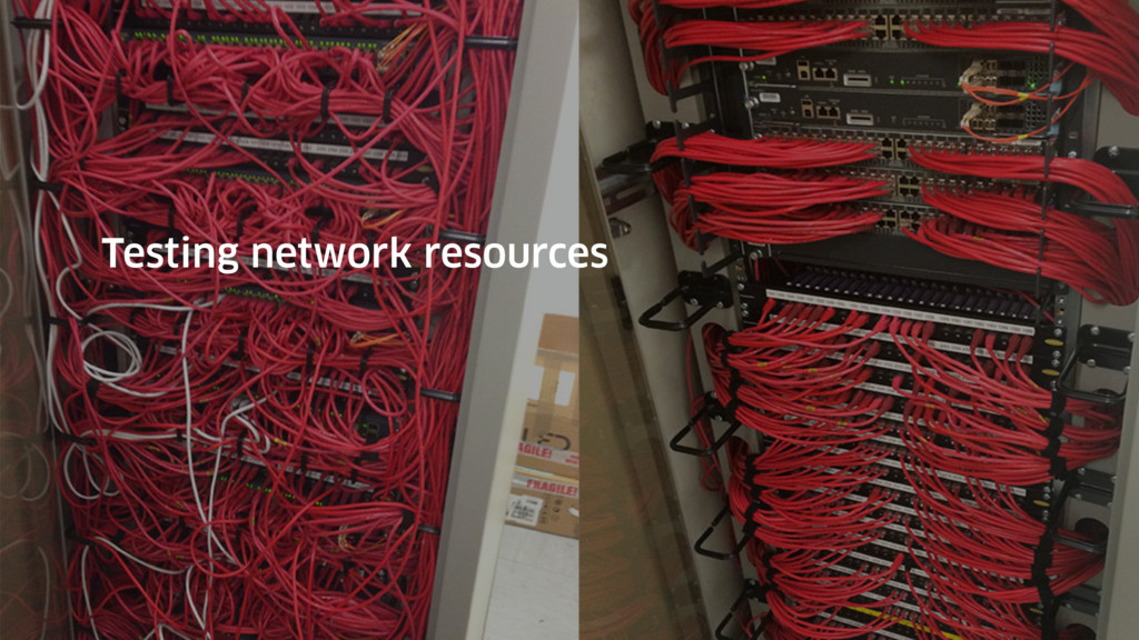 Testing network resources