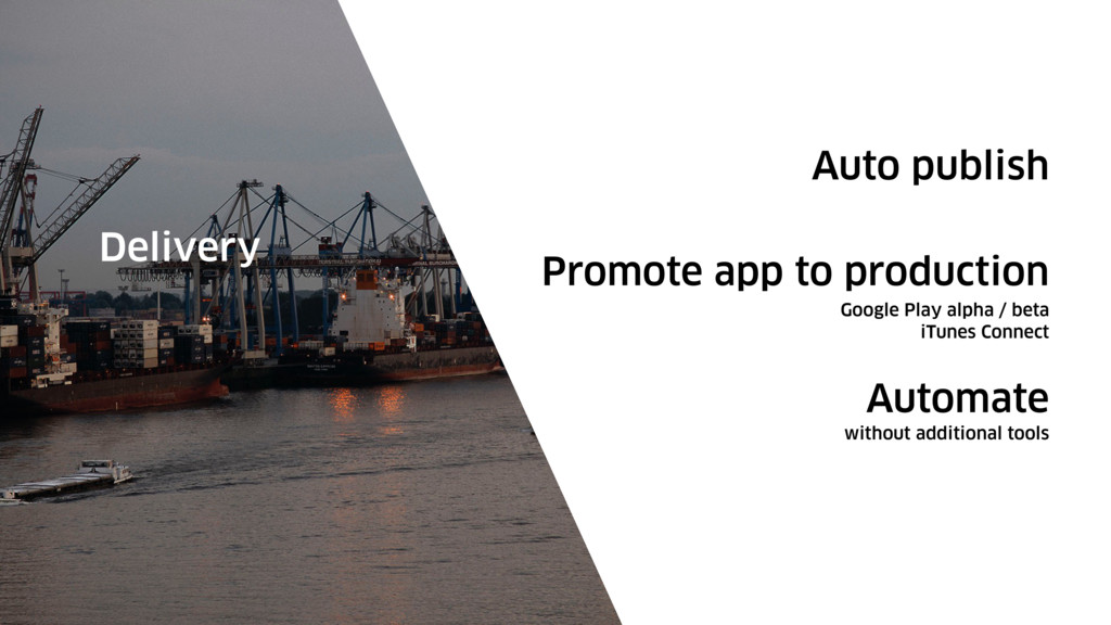 Auto publish Delivery Promote app to production...